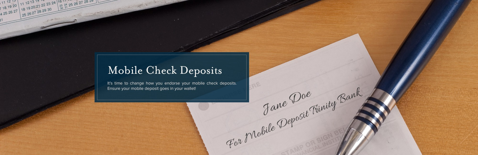 Mobile Deposit Endorsement Change